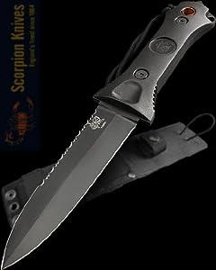 Scorpion Knives Todd Grey 5 Blade Fighting Knife Paul Cross Sheath T-GT-002