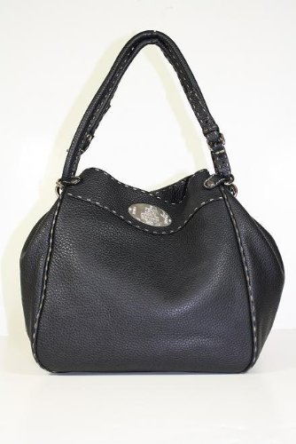 Fendi Handbags Black Leather Bucket 8BR489