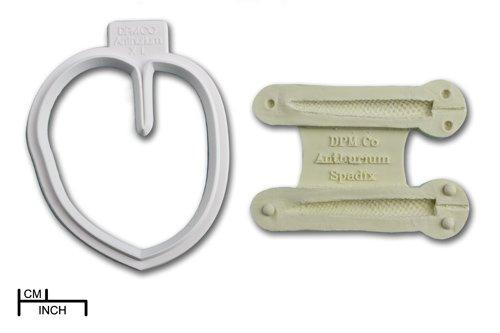 Anthurium Emporte-Pièces Moule Cutter & spadice Craft Emporte-pièces Argile