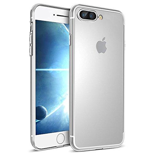 iPhone 7 Plus Hülle, Ubegood Kratzfeste TPU iPhone 7 Plus Bumper Case Weiche Silikon Hülle Transparent TPU Schutzhülle Kristall Tasche Klar Hülle Durchsichtig Handyhülle für iPhone 7 Plus(Transparent)