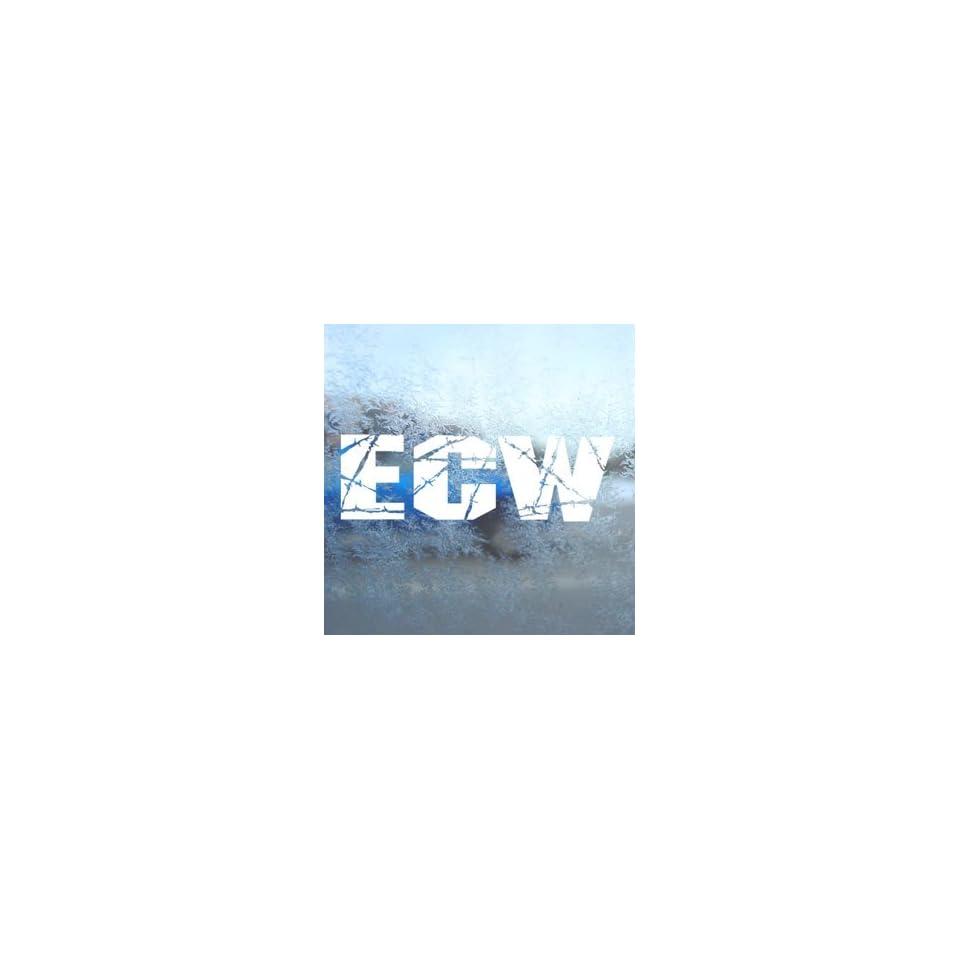 WWE BRAND ECW White Decal Car Laptop Window Vinyl White Sticker