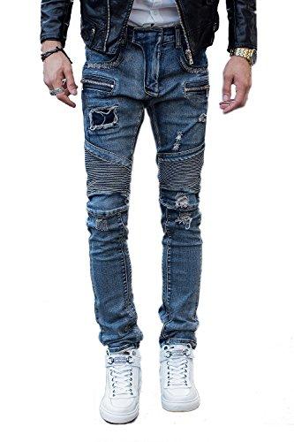 COUSIN CANAL Denim Jeans pantaloni ragazzi Biker 058 36