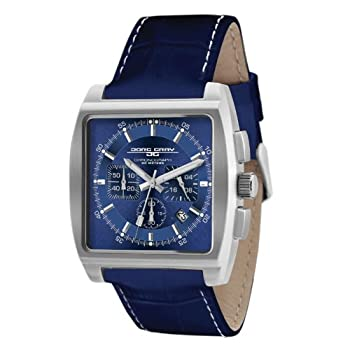 Jorg Gray Blue Dial Stainless Steel Watch with Leather Strap JG5200-12 by Jorg Gray