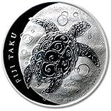 2011 1 oz Silver New Zealand Mint $2 Fiji Taku