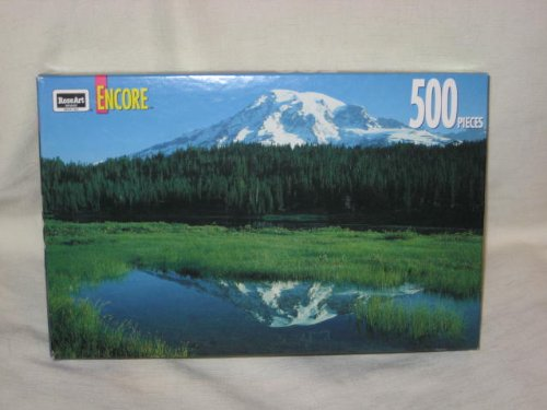 1993 RoseArt Encore - 500 Piece Jigsaw Puzzle - Reflection Lake - 1