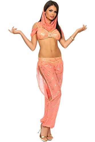 3WISHES 'Desert Jasmine Costume' Sexy Genie Halloween Costumes for Women