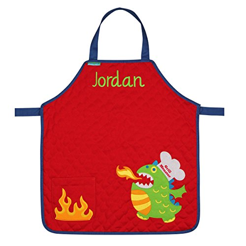 Personalized Stephen Joseph Quilted Monster Apron with Embroidered Name
