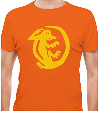 [TeeStars - Orange Iguanas 90s Tribute Retro Halloween Team Costume T-Shirt Medium Orange] (Throwback Halloween Costumes)