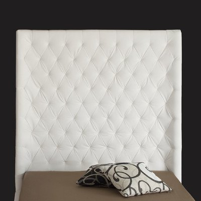 Penthouse Headboard Color: White, Size: King front-875380