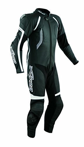 Motorcycle Biker Full Body one pc Perforated Leather Race Suit A-Pro Black 54