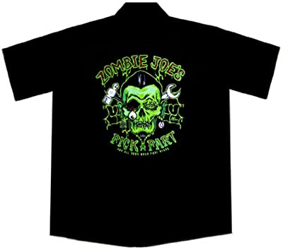 Zombie Joe's Hot Rod Car Work Shirt, Lucky 13