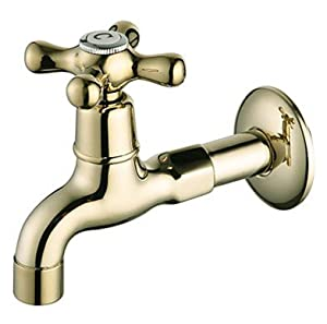 Finish Wall Mount Antique Style Brass Bathroom Sink Faucets Washing Machine Faucets Touch On
