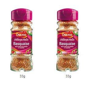 DUCROS - Melanges - Melange en flacons - Melange malin Basquaise - 33 g - lot de 2