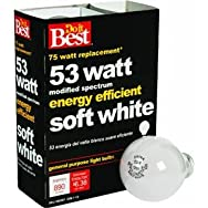 GE Private Label 90859 Do it Halogen Light Bulb-53W 4PK SOFT WHITE BULB