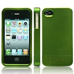 splash CRUISER Slim-Fit PolyCarbonate Slider Case for iPhone 4 4G (GREEN)