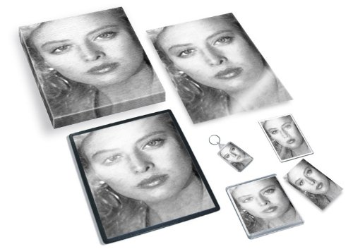 VIRGINIA MADSEN - Original Art Gift Set #js001 (Includes - A4 Canvas - A4 Print - Coaster - Fridge Magnet - Keyring - Mouse Mat - Sketch Card) #js001