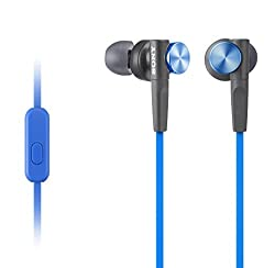 Sony MDR-XB50AP In-Ear Extra Bass(XB) Headphones with Mic (Blue)