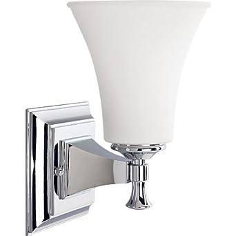 lighting p3131 15 1 light bath bracket polished chrome wall sconces