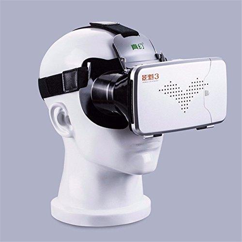 Ingooood RITECH III VR Virtual Reality 3D Glasses Headset Oculus Rift Head Mount Cardboard for 3.5''-6'' Phone + Bluetooth Remote Control