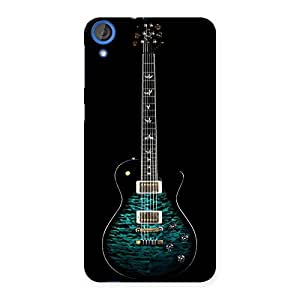 Enticing Greenish Print Guitar Back Case Cover for HTC Desire 820