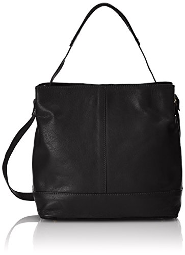 Clarks Templeton Hope - Borse a Tracolla Donna, Nero (Black Leather), 28x29x16 cm (B x H x T)