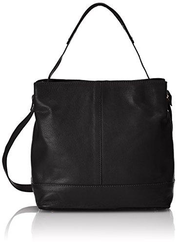 Clarks Templeton Hope - Borse a Tracolla Donna, Nero (Black Leather), 28x29x16 cm (B x H x T)