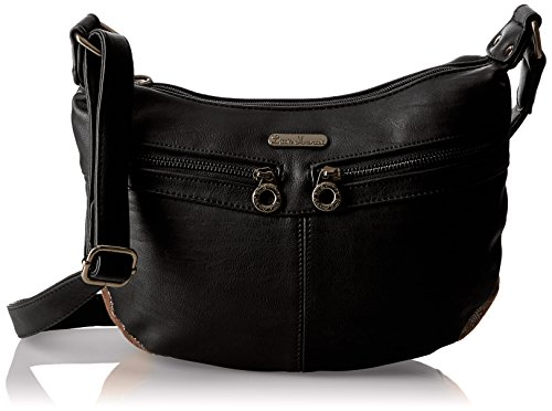 Little Marcel Christy, Borsa a tracolla donna , Nero (Black (nero)), Taille Unique