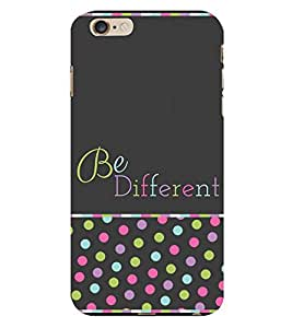 Be Different in Crowd 3D Hard Polycarbonate Designer Back Case Cover for Apple iPhone 6 Plus