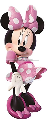 11-minnie-mouse-bow-mickey-removable-wall-decal-sticker-art-disney-home-decor-4-inches-wide-by-10-1-