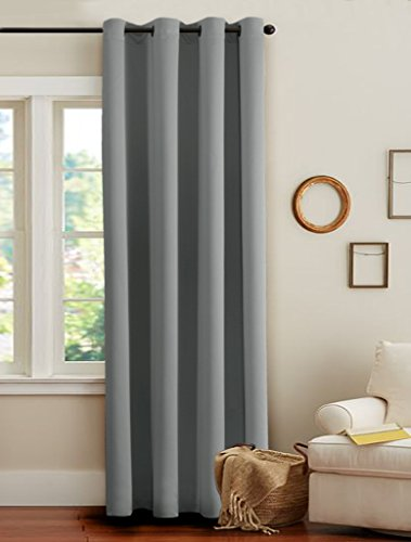 H.Versailtex Thermal Insulated Innovated High Density Microfiber Home  Fashion Blackout Curtains Window Drapes,Grommet Top  Set ...