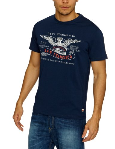 Levi's Standard Graphic Printed Men's T-Shirt Dress Blues X-Large