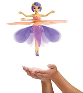 Fairy-Flutterbye Flying Fairies-Fairy Tail toy amazingly flies, guided by the palm of your child's hand* Gracefully launches from her decorative display stand Can be stopped with the push of a button-Toys Color is Evening Star-Make your little girl's play
