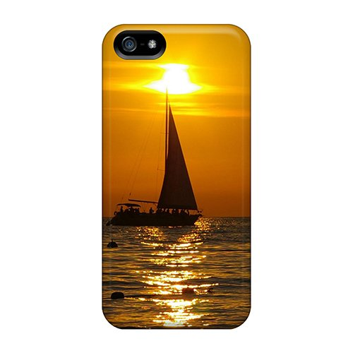 Mqsle9419Lhjkh Case Cover Sailboat At Sunset Iphone 5/5S Protective Case