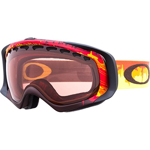 Oakley Crowbar Snow Goggle, Shockwave Fire with Rose Lens