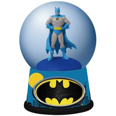 100mm DC Comics Batman The Cape Crusader Skyline Colorful Water Globe