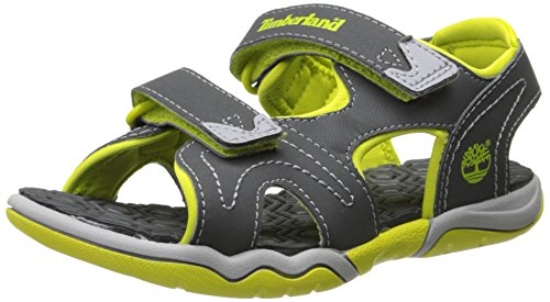 Timberland - Active Casual Sandal FTK_Adventure Seeker 2 Strap Sandal, Sandali  da unisex bambino, Grigio (Dark Grey/Green), 26