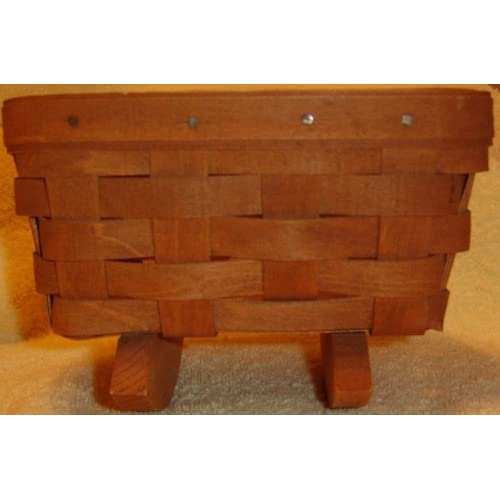 1988 Retired Warm Brown Mini Cradle Basket - Home Decor Accents