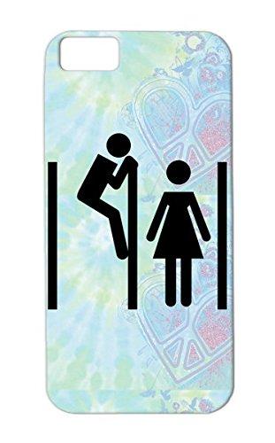Dirtproof Tpu Potty Girl Women Dressing Boy Funny Peeking Funny Man Toilet Tom Men Woman Shirt Fun Satire Horny Room Funshirt Sex Black Peeping For Iphone 5C Protective Case front-893100