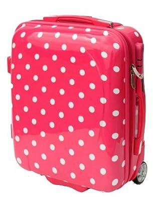 Mokka Hard Shell Cabin Case Hand Luggage 50x40x20cm Pink Polka Dot