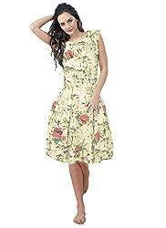 Rozdeal Designer White Colour Semi Stitched Georgette Western Wear