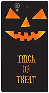 The Racoon Lean Trick-o-treat hard plastic printed back case / cover for Sony Xperia Z
