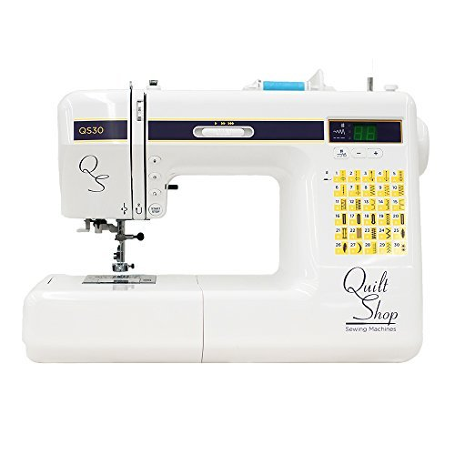 QuiltShop QS30 Computerized Sewing Machine with 30 Built-In Stitches, 7 Additional Stitching Feet, Hard Shell Case, Extension Table (Janome 7330 Case compare prices)