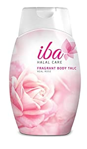 Iba Halal Care Fragrant Body Talc Real Rose, 100g
