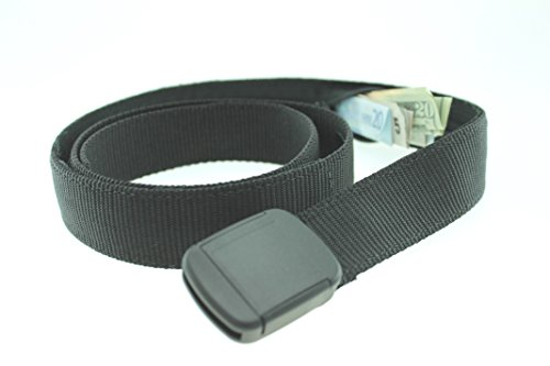 Hiker Money Belt Made in USA by Thomas Bates (Black) (Bison Money Belt compare prices)