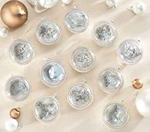"Best Quality Christmas & Nativity Collection Set of 12 3.5"" Glass Ornament By Roman Holiday Decor Keepsakes Gifts"