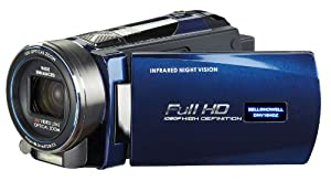Bell and Howell DNV16HDZ-BLFull 1080p HD Infrared 16MP Night Vision Camcorder with 10x Optical Zoom and 3-Inch LCD (Blue)