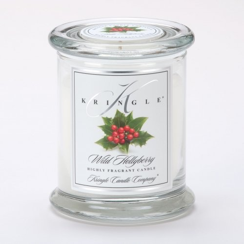 WILD HOLLYBERRY Medium Classic 50 Hour Apothecary Jar Candle by Kringle Candles