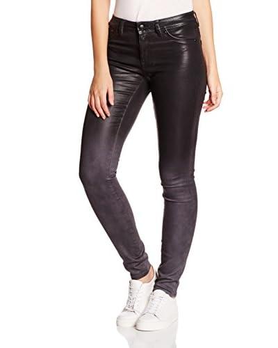 Superdry Jeans Super Skinny Ombre grau/schwarz