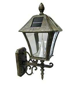B And M Solar Wall Lights : Amazon.com : Gama Sonic Manufacturer-Refurbished Baytown Solar Outdoor LED Light Fixture, Wall ...