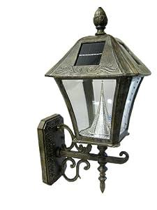Amazon.com : Gama Sonic Manufacturer-Refurbished Baytown Solar Outdoor LED Light Fixture, Wall ...